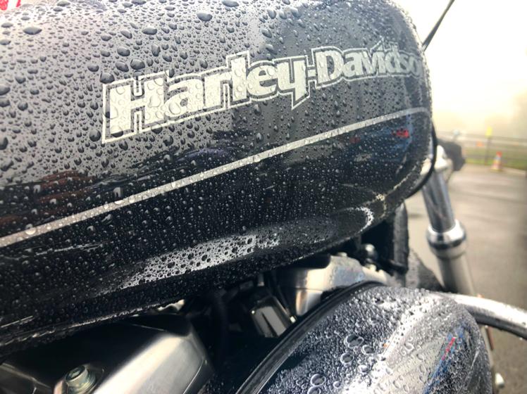 雨ハーレー
